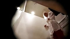 Hot Blonde Wearing a White Cloth-Dressing Room Spy Cam