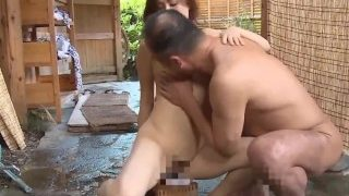Cuckold husband gives creampied wife to men