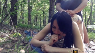 Real sex In A Quiet Forest